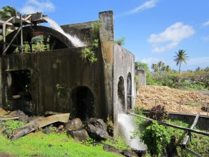 Rivers Rum distillery Grenada, still powered by the river