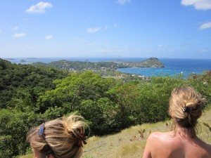 Atop Chapeau Carre, looking south - Carriacou, Grenada