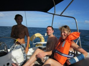 Sailing with the wind - Good times!