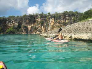 Kayaking to Little Bay, Anguilla